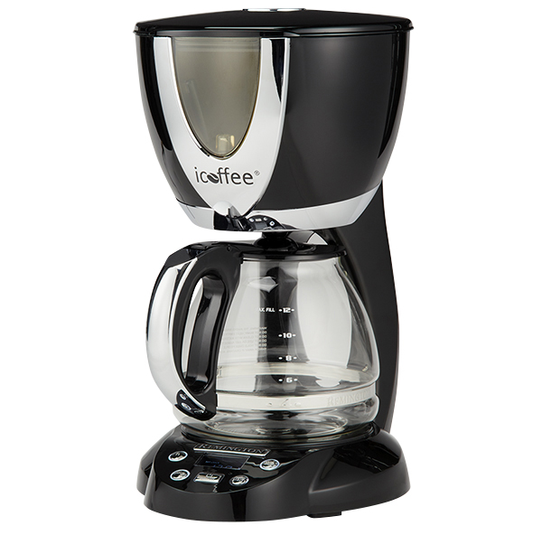 Picture of an electric French press coffee maker.