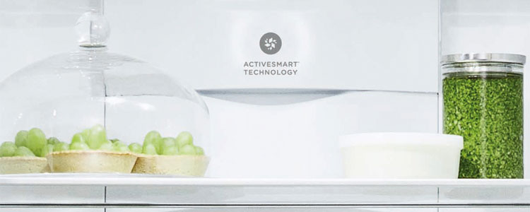 Inside one of Fisher & Paykel's counter-depth refrigerators.