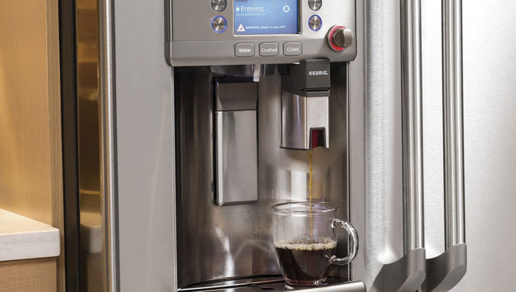 GE CYE22USHSS Refrigerator With Keurig Coffee Maker Is One Of The Innovative  Home Products Of 2015