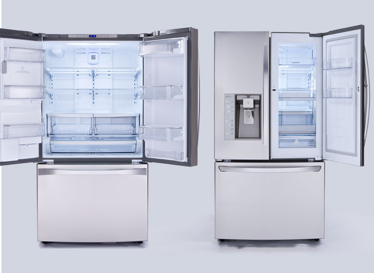 Attrayant The Kenmore Elite 74093 And LG LFXS32766S French Door Refrigerators.