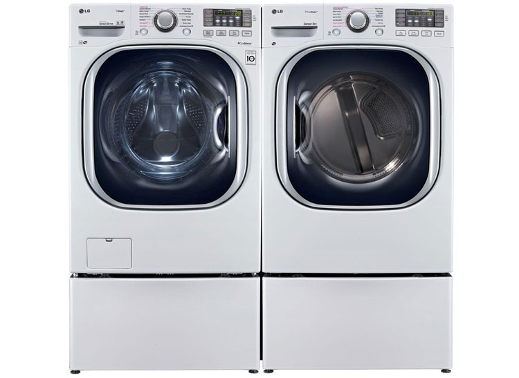lg washer and dryer. you can buy the lg wm4270hwa front-loader and dlex4270w electric dryer at costco lg washer u