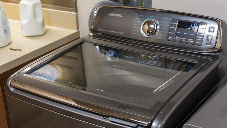 The Samsung Activewash top-loader.