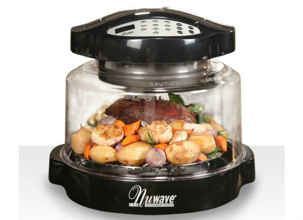 "Like any popular infomercial product, the NuWave Pro Infrared Oven makes some pretty bold promises, including ""delicious fried chicken from frozen to your table in just 15 minutes."" After."