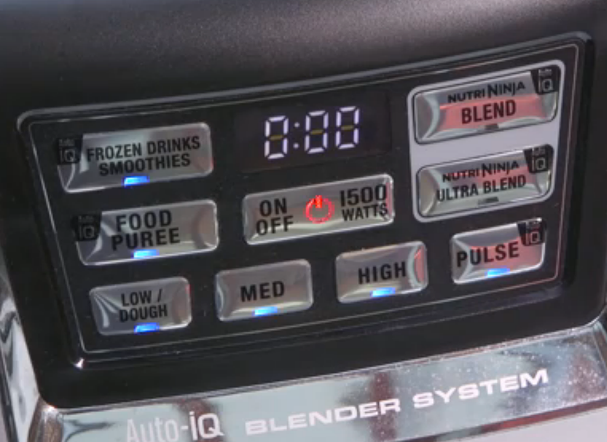 Blender controls.