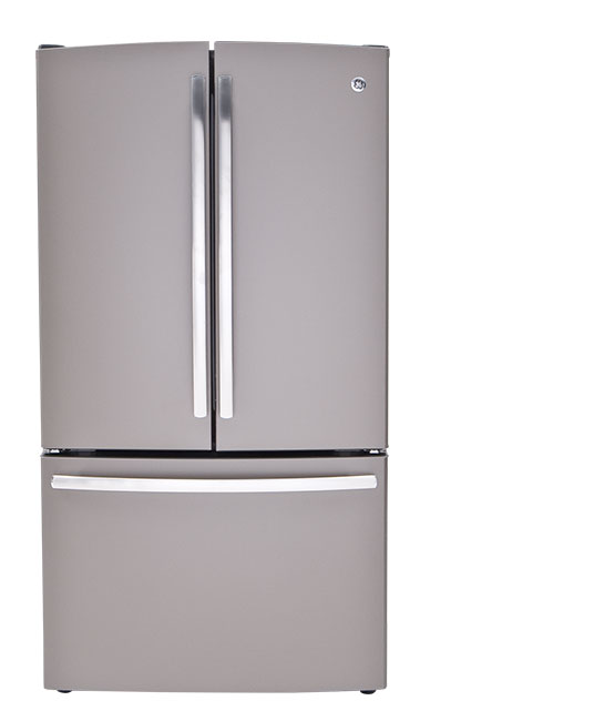 A French-door refrigerator.