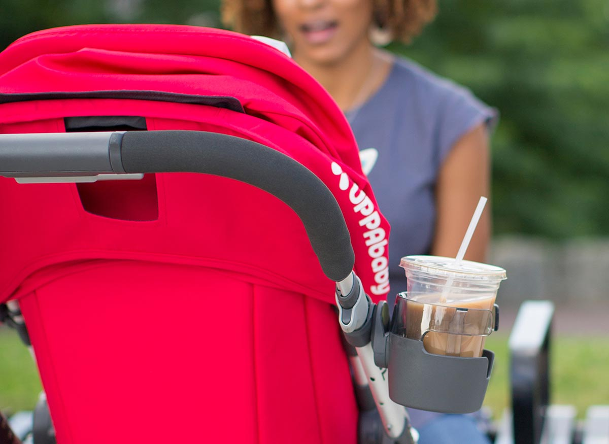 Photo of storage space at the back of a stroller.
