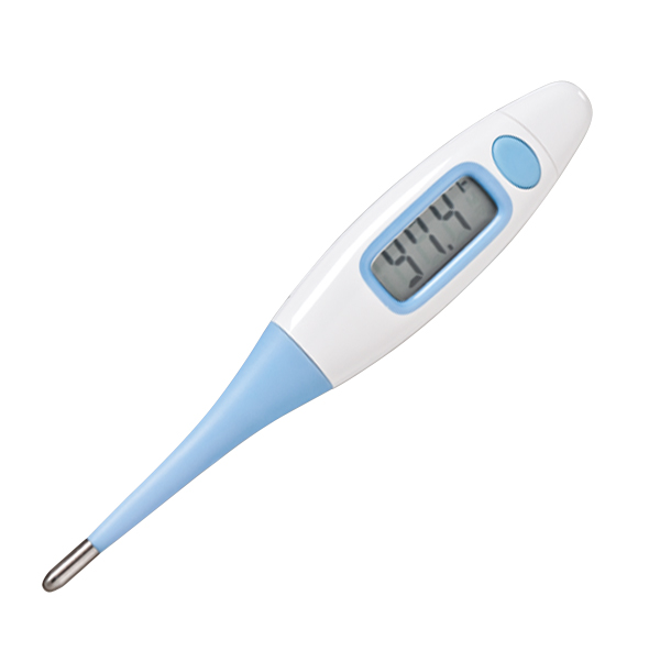 Photo of a digital stick thermometer.