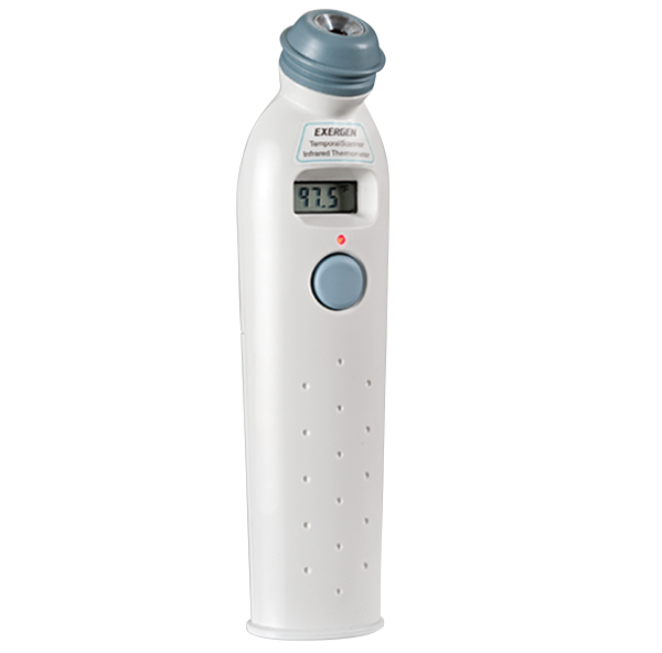 Photo of an infrared thermometer.