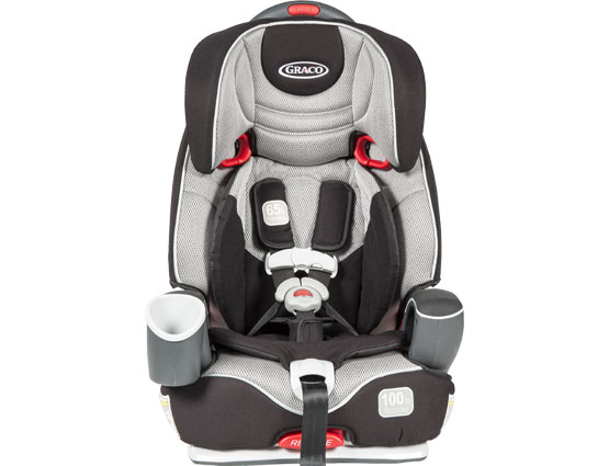 A toddler booster car seat.