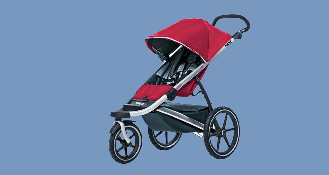 One of the Thule Urban Glide strollers for active parents