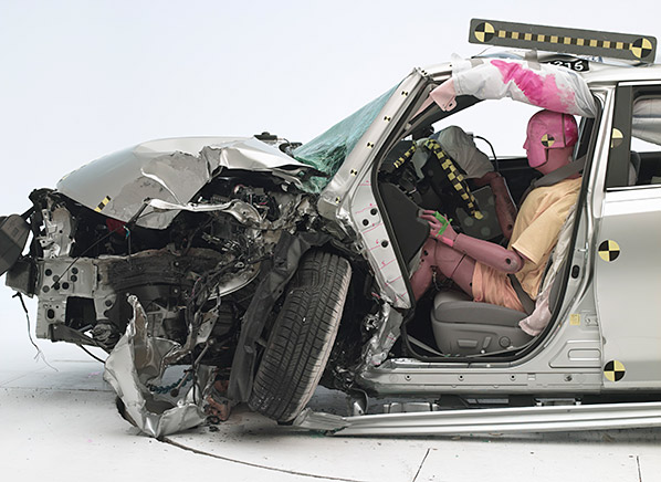 Wonderful 2013 Toyota Camry After The Initial Crash Test, With Poor Results.