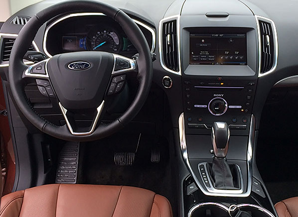 the interior of the ford edge - 2015 Ford Fusion Sport Interior