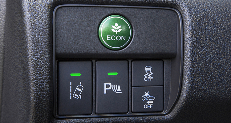 2016 Honda Accord controls, including lane-departure warning