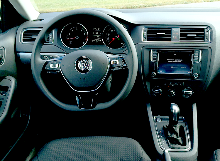 Interior View Of The 2016 Volkswagen Jetta 1 4t
