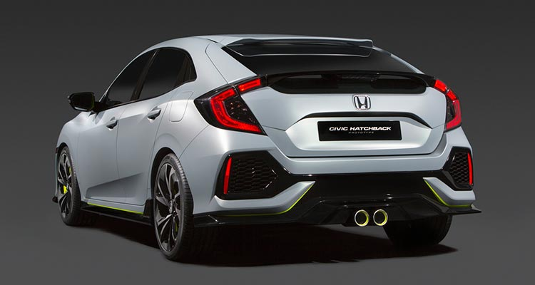 2017 Honda Civic Hatchback Rear