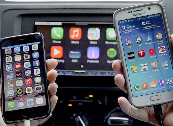 we take apple carplay and android auto out to starbucks consumer reports. Black Bedroom Furniture Sets. Home Design Ideas
