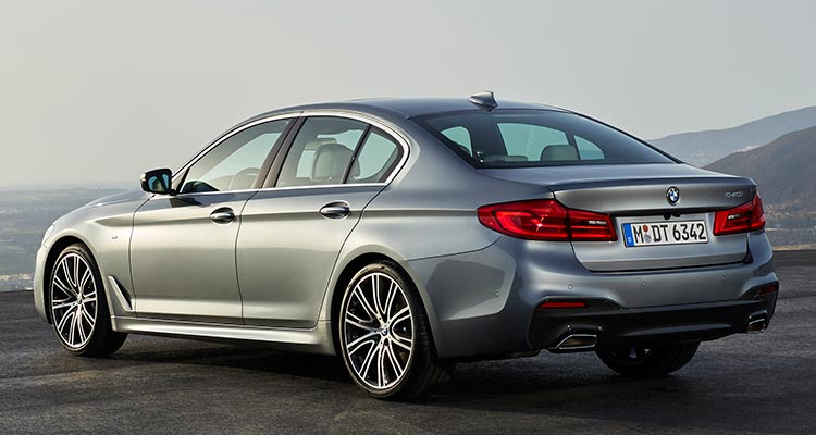 2017 BMW 5 Series Rear Exterior