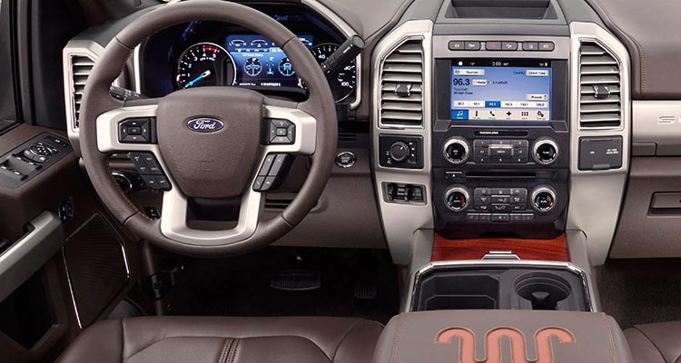 2017 Ford F 250 Pickup Truck Interior