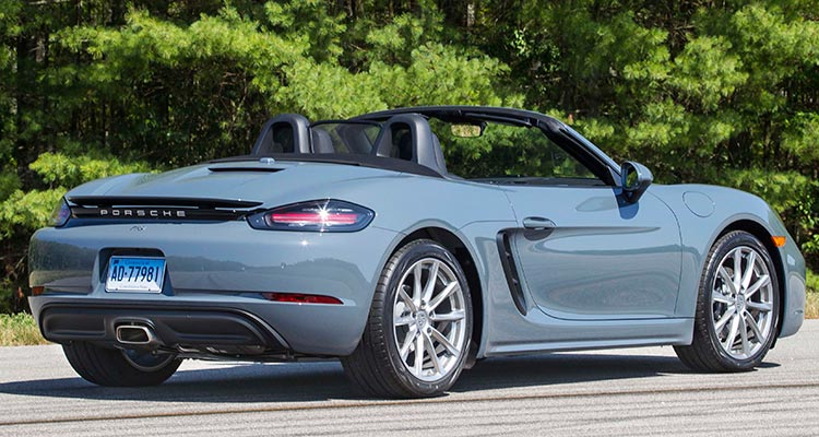 Porsche 718 Boxster Rear Top Down