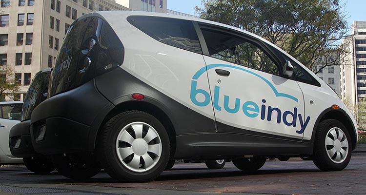 BlueIndy car-sharing vehicle
