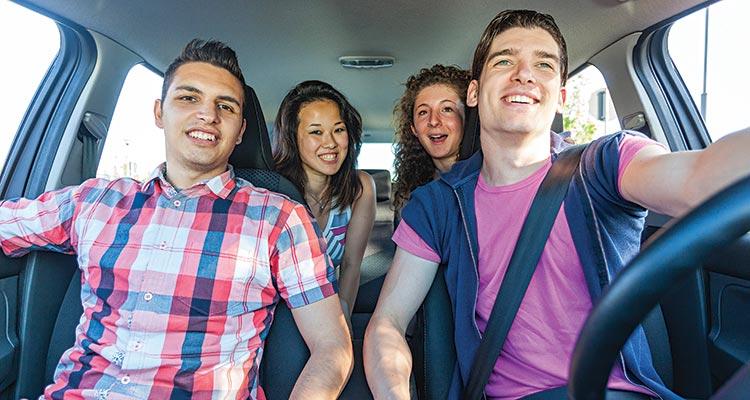 Teen driver with unbelted teen passenger