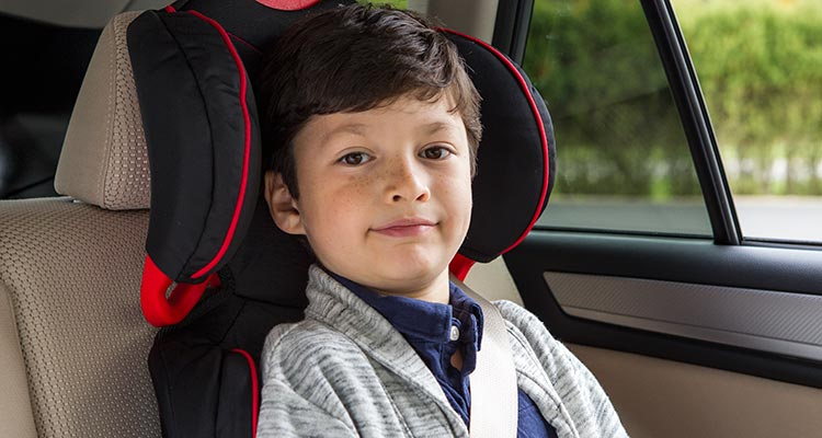 Tips for Safe Carpooling : All children under age 13 should ride properly restrained in a rear seating position of the vehicle.