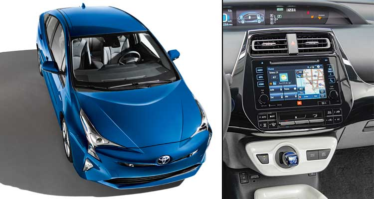 Volt vs. Prius: The Toyota Prius received a thorough interior makeover with its redesign.