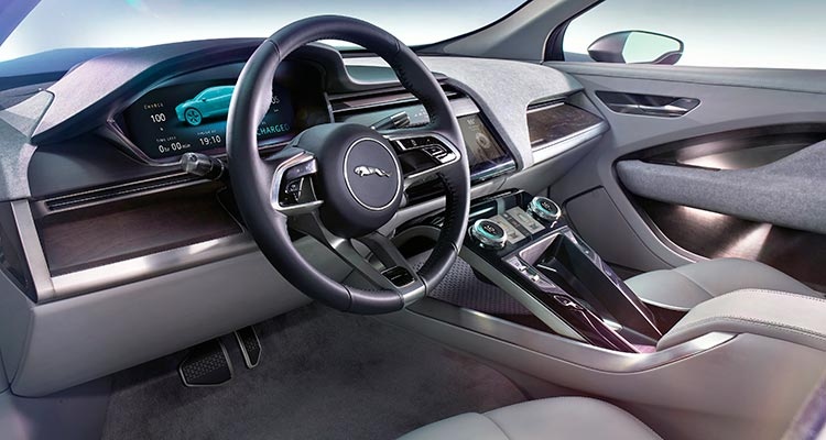 Jaguar I Pace Electric Car Interior