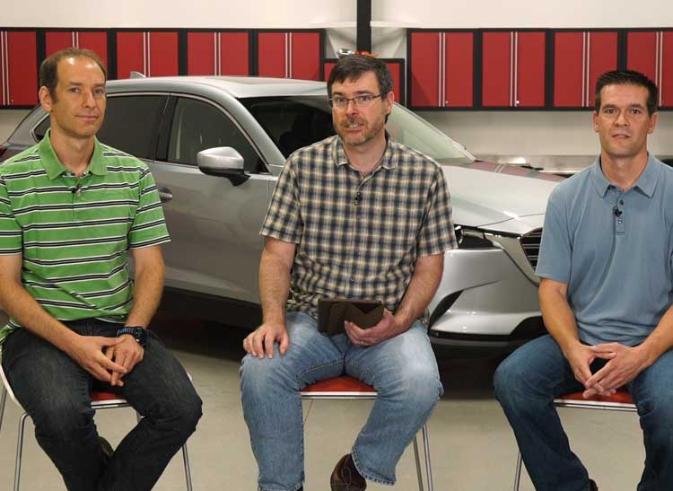 The Consumer Reports experts discuss the Mazda CX-9, Tesla, and answer viewer questions