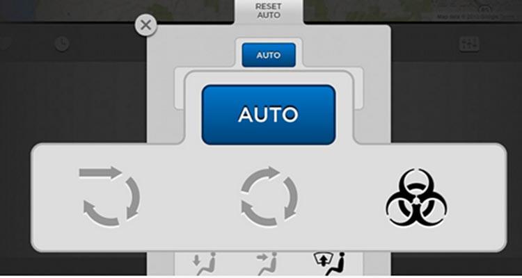 Tesla Model S Biohazard Filter Controls