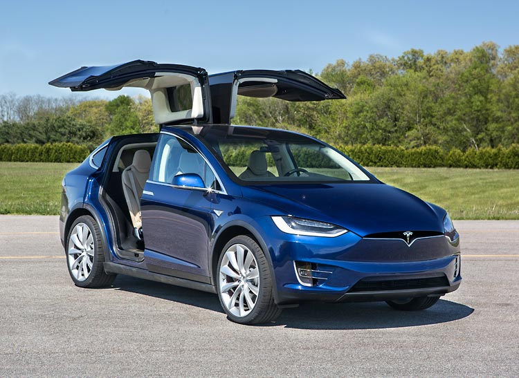 Tesla Model X falcon-wing doors