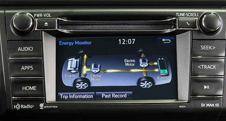 2016 Toyota Rav4 Hybrid Display