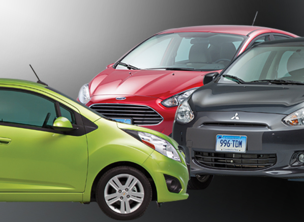 Chevrolet Spark, Ford Fiesta & Mitsubishi Mirage Review ...