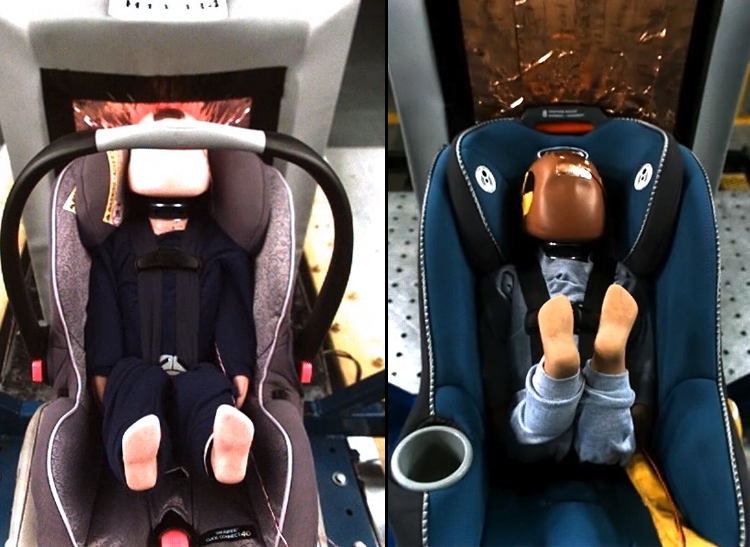 Convertible Car Seat Testing Top View