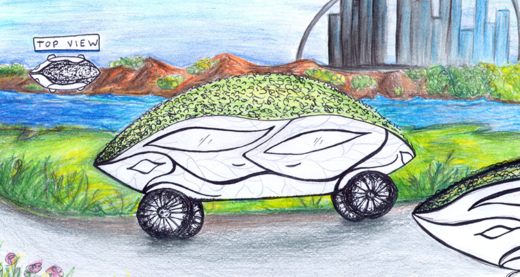 Photosynthetic-Fueled Car by Katrina, part of Disney's Create Tomorrowland XPrize Challenge