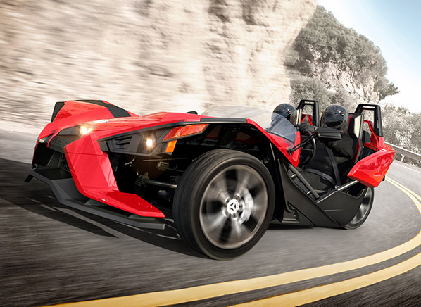 Radical polaris slingshot is part car part motorcycle for Side by side plans