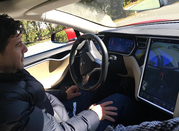 latest tesla model s software update includes autopilot and a taste of autonomous driving. Black Bedroom Furniture Sets. Home Design Ideas