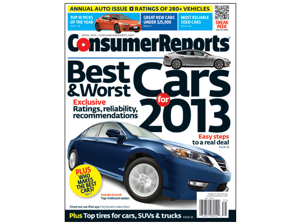 top picks 2013 10 best car models of the year consumer reports rh consumerreports org Consumer Reports Magazine Consumer Reports Magazine