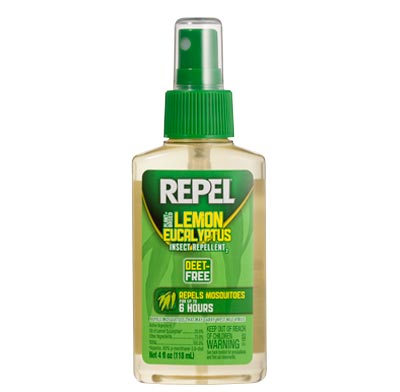 An oil of lemon eucalyptus insect repellent.