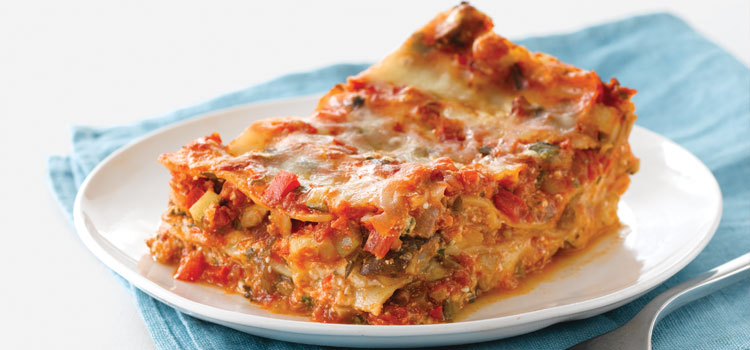 Lighter Vegetable Lasagna, one of Consumer Report's Super Bowl recipes.