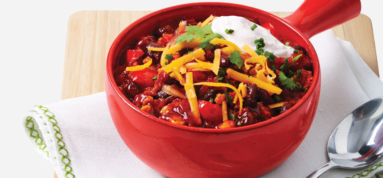 Slow Cooker Turkey Chili, one of our super bowl recipes.