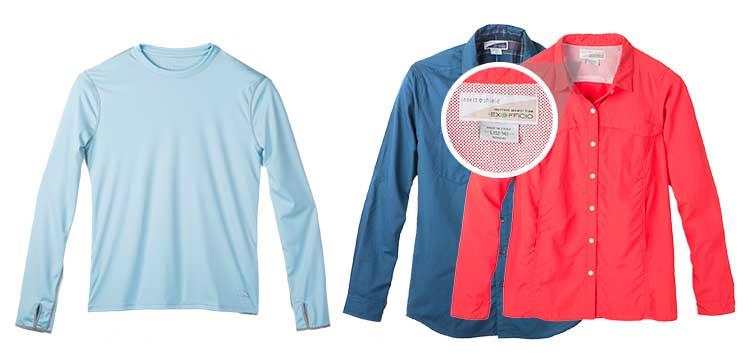 An image of permethrin treated shirts.