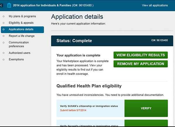 40 percent of healthcaregov customers39 plans in jeopardy With upload documents healthcare gov