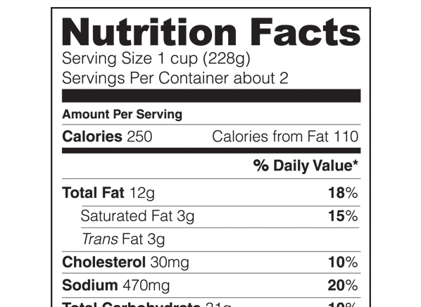 nutrition facts new food labels consumer reports news
