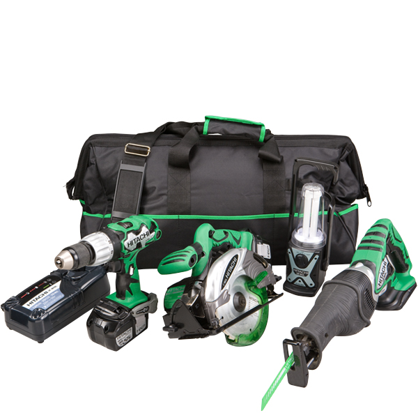 Photo of a cordless tool kit.