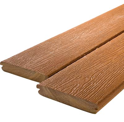 Photo of composite decking materials.