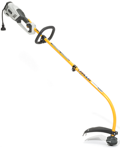 A corded-electric string trimmer.