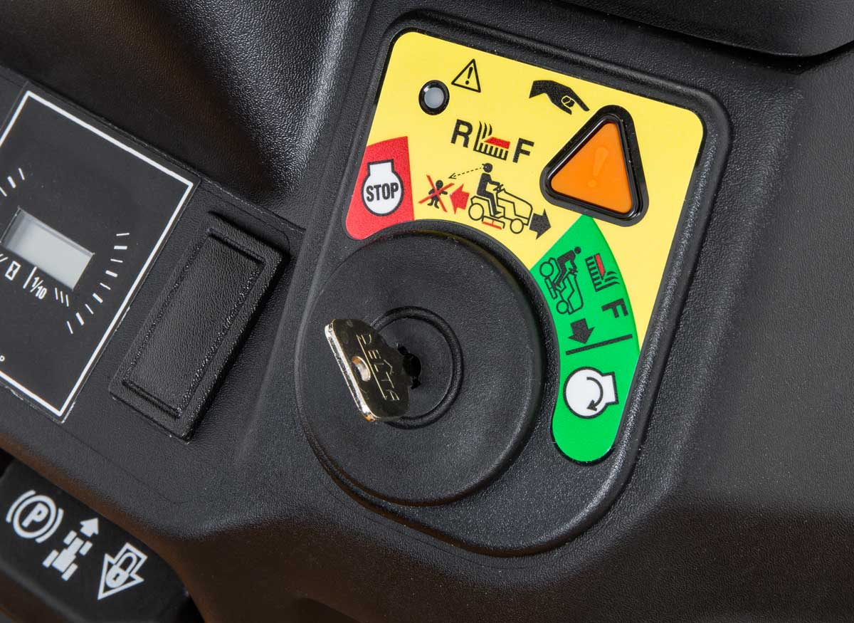 Picture of a safety switch for reverse on a lawn tractor.