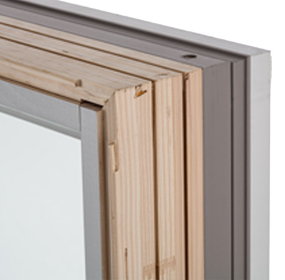 Photo of a wood window frame.