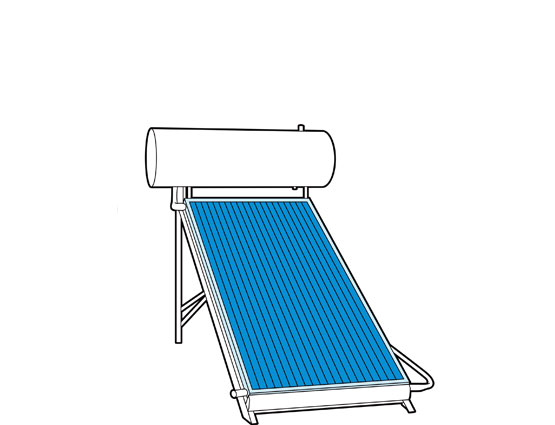 Ilration Of A Solar Water Heater